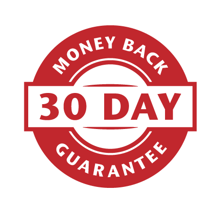 30 Day money back guarantee graphic