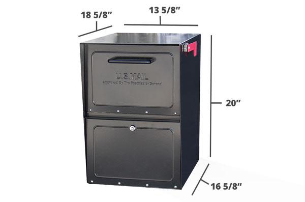 Black mailbox dimensions