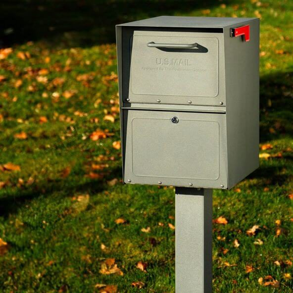 storm gray locking mailbox