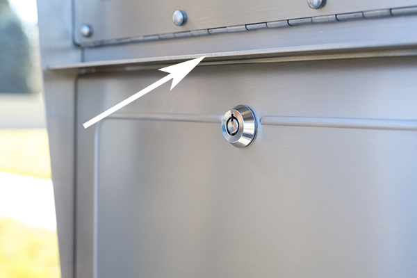 Stainless Mailbox Pry shield